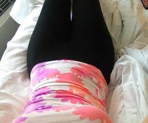 floral, legs, and modern image