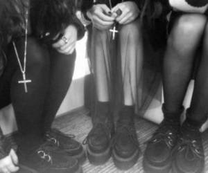 grunge, black, and creepers image