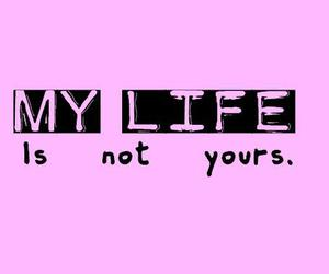 life, pink, and text image