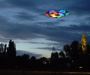 color, ufo, and led image