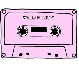 song, pink, and music image