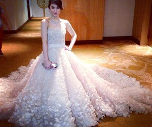 gown, beautiful, and dress image