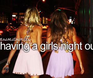 girl, night, and quote image