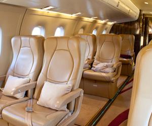 luxury, plane, and travel image