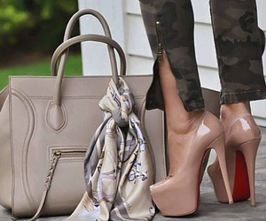 heels, bag, and shoes image