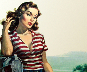 paperback, pinup, and pulp image