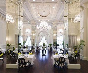 chandelier, design, and hotel image