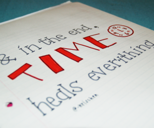 quotes, red, and time image