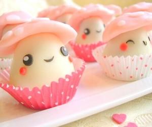 cute, mushroom, and food image