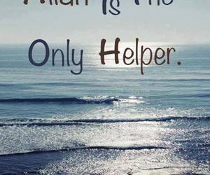 allah, helper, and only one image