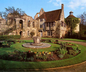 castle, garden, and manor image