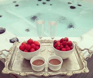 strawberry, chocolate, and luxury image
