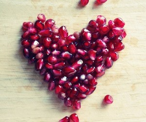 heart, food, and fruit image