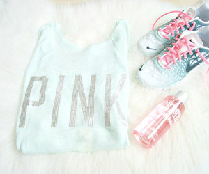 pink, nike, and fitness image