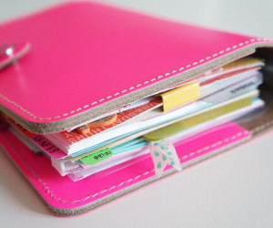 pink, diary, and book image