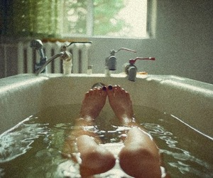bath, relax, and water image