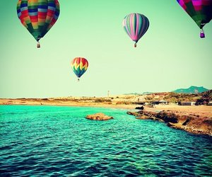 balloons, beach, and lovely image