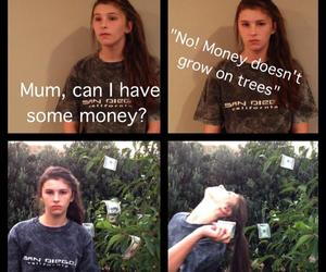 money, funny, and tree image