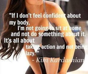 fitness, quote, and kim kardashian image