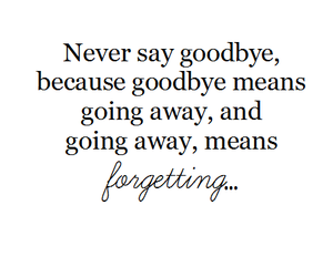 forget, goodbye, and quotes image
