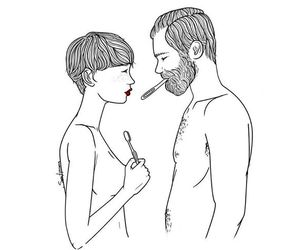 couple, hipster, and illustration image