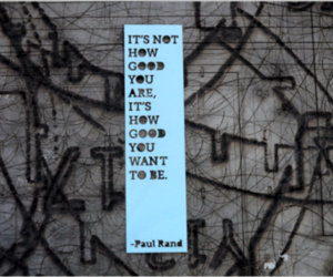 good, Paul Rand, and quote image