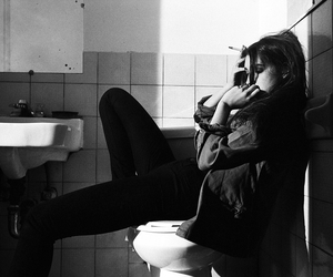 bathroom, dave hill, and girl image