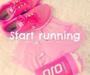 pink, running, and nike image