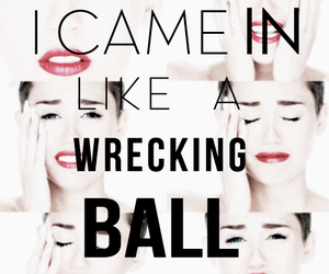 miley cyrus, wrecking ball, and miley image