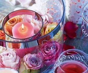 candles, roses, and crystal image