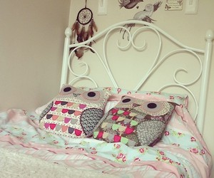 owl, bed, and bedroom image