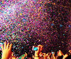 party, colors, and confetti image