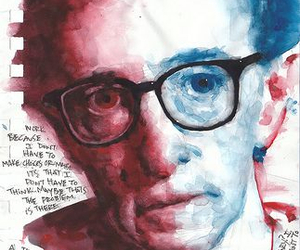 painting and woody allen image