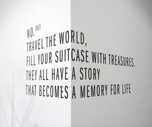 quotes, travel, and memories image