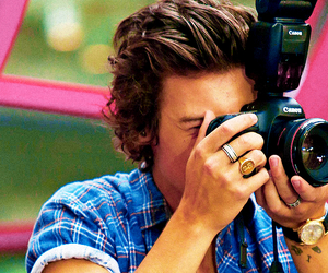 one direction, Harry Styles, and camera image