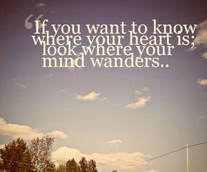 heart, quote, and mind image