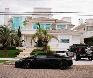 car, house, and rich image