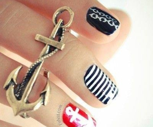 nails, anchor, and nail art image
