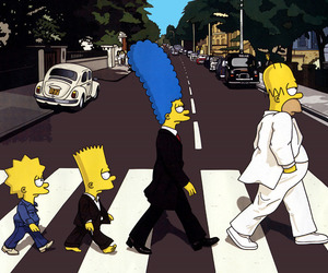 rua, the beatles, and os simpsons image