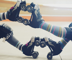 patins, roller, and roller derby image