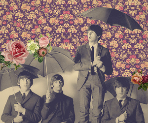 the beatles, beatles, and flowers image