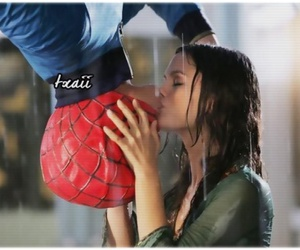 kiss, spiderman, and love image