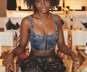 justine skye and curly hair image