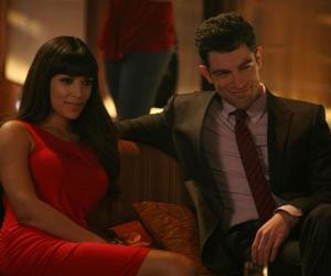 new girl, max greenfield, and hannah simone image