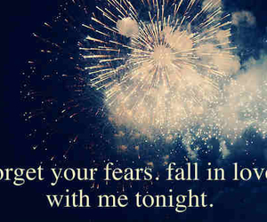 fireworks, night, and love image