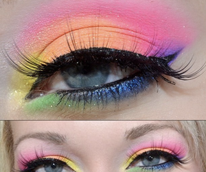 makeup, blue, and green image
