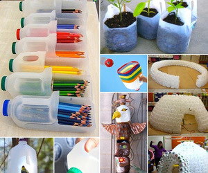 cool, plastic bottles, and diy image