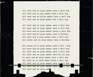 black and white, text, and the shinning image