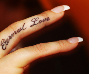 tattoo, love, and nails image