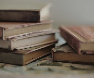 antique, books, and pale image